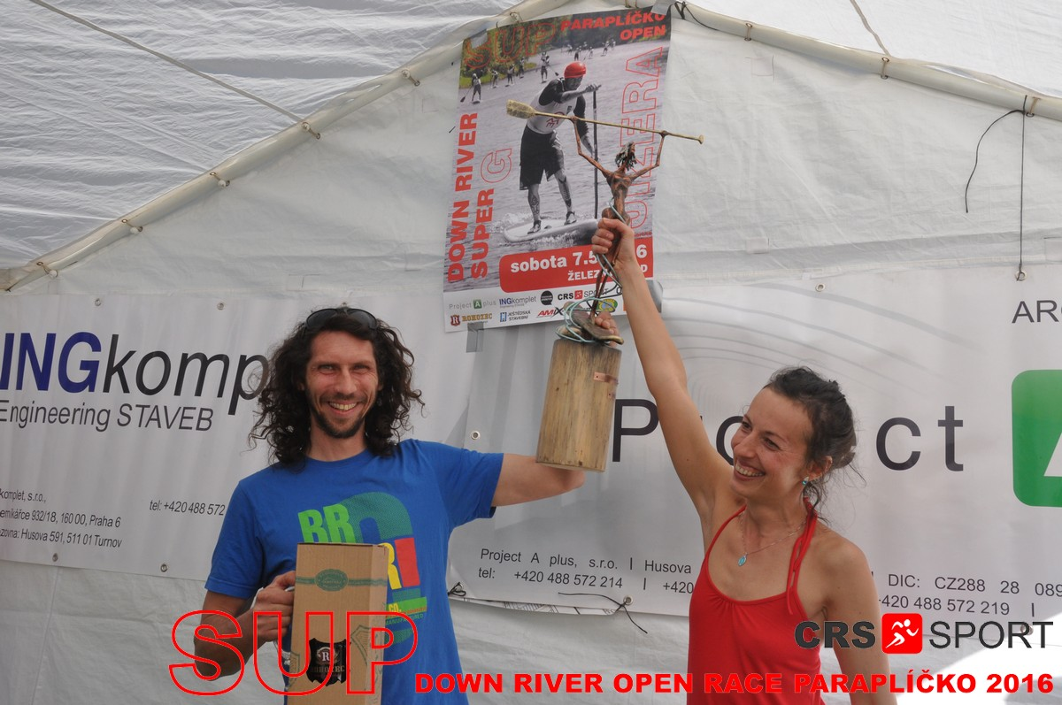 SUP down river OPEN race PARAPLÍČKO 2016 - výsledky